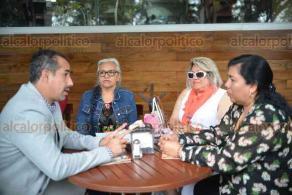Xalapa, Ver., 23 de abril de 2018.- Presidentes de asociaciones deportivas, en conferencia de prensa, denunciaron inconsistencias en el Instituto Veracruzano del Deporte.