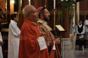 Xalapa, Ver., 20 de marzo de 2018.- El arzobispo Hipólito Reyes pidió una oración por los 14 sacerdotes que serán nombrados cardenales de la Iglesia Católica, entre ellos el arzobispo emérito de Xalapa, Sergio Obeso, quien recibirá el nombramiento del Papa Francisco.