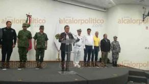 Veracruz, Ver., 27 de mayo de 2018.- El gobernador Miguel Ángel Yunes Linares encabezó la reunión del Grupo de Coordinación Veracruz, en el Cuartel