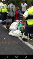 Nogales, Ver., 18 de junio de 2018.- Accidente alrededor de las 14:00 horas en la autopista Puebla-Veracruz entre un autob�s proveniente de Sinaloa con destino Tezonapa y un tr�iler.