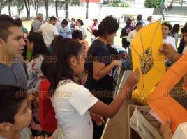 Coatepec, Ver., 15 de julio de 2018.- Encuentro art�stico y demostraci�n de papalotes en el Campo deportivo �Adolfo L�pez Mateos�.