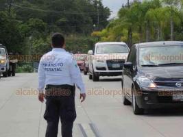Xalapa, Ver., 22 de julio de 2018.- Debido a la afluencia de automovilistas sobre la carretera Xalapa-Coatepec, elementos de Tr�nsito del Estado implementan operativo �Radar� para reducir el �ndice de accidentes en la zona.