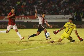 Veracruz, Ver., 17 de agosto de 2018.- Este viernes, los Tiburones Rojos perdieron en su casa 2-0 ante las Chivas Rayadas del Guadalajara, quienes lograron su primera victoria en lo que va del torneo.