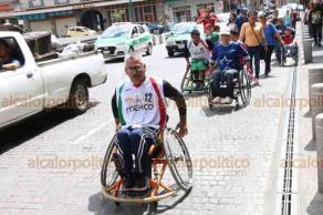 Xalapa, Ver., 19 de agosto de 2018.- Este domingo organizaron la rodada por la inclusión para que todas las personas con discapacidad se unan para hacer proyectos y abrir las puertas para la inclusión educativa, laboral y deportiva.