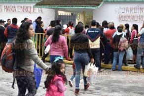 Xalapa, Ver., 20 de agosto de 2018.- Este lunes, niños y niñas reanudan labores escolares en nivel preescolar, primaria, secundaria y bachillerato.