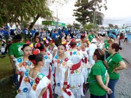"""El ballet """"Atzin"""" de la primaria """"Enrique C. Rébsamen"""" visitó Costa Rica, donde mostró la riqueza cultural veracruzana."""