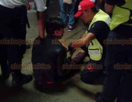 Xalapa, Ver., 23 de septiembre de 2018.- La madrugada de este domingo se registró una riña en la parte baja del estacionamiento de Plaza Ánimas, una persona resultó lesionada y la atendieron paramédicos.