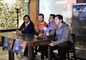 """Xalapa, Ver., 17 de octubre de 2018.- Organizadores invitan a los recorridos de terror """"Los que habitan"""", que se llevarán a cabo del 28 de octubre al 4 de noviembre."""