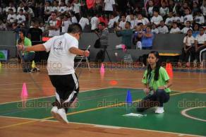 Xalapa, Ver., 19 de octubre de 2018.- En la arena Omega se efectuó este viernes el concurso de salto con cuerda