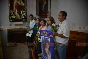 Xalapa, Ver., 19 de octubre de 2018.- Familiares de Yuneri Citlali Delgadillo, desaparecida desde hace 7 años ofrecen misa en honor a la joven quien hoy cumpliría años, la madre exigió le entreguen a su hija como esté, pero que la entreguen.