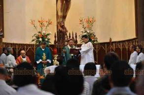 Xalapa, Ver., 21 de octubre de 2018.- El arzobispo Hipólito Reyes Larios ofició la misa como cada domingo.