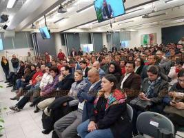 Xalapa, Ver., 13 de noviembre de 2018.- El gobernador electo, Cuitláhuac García; el futuro secretario de Gobierno, Eric Cisneros, y el CEO de la agencia de comunicación