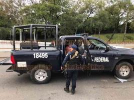 Detienen a 3 sujetos tras reporte de disparos frente a gasolinera Ferche Gas y el Hotel HB.