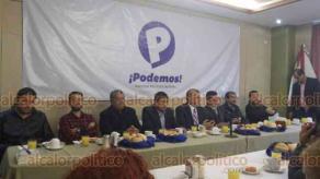 Xalapa, Ver., 10 de diciembre de 2018.- La mañana de este lunes, Francisco Garrido Sánchez presentó el proyecto político estatal