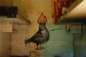 Veracruz, Ver., 12 de diciembre de 2018.- Las paredes del expenal