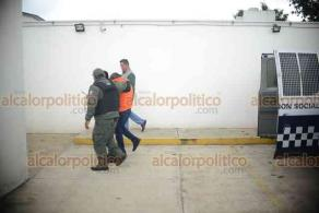 Xalapa, Ver., 11 de enero de 2019.- Ingresa a las sala de juicios orales del penal de Pacho Viejo, el exdiputado Manuel Francisco