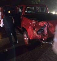 Xalapa, Ver., 16 de enero de 2019.- La tarde de este miércoles, el conductor de una camioneta de batea se accidentó sobre la carretera Xalapa-Coatepec, a la altura de Río Sordo, al parecer fue a causa del asfalto mojado.