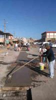 Veracruz, Ver., 18 de enero de 2019.- En el mercado Malibrán se está construyendo un ducto pluvial nuevo para evitar inundaciones y encharcamientos.