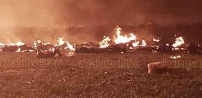 Tlahuelilpan, Hidalgo., 18 de enero de 2019.- Se registra explosión en un ducto de PEMEX por una toma clandestina, en la comunidad de San Primitivo; reportan a varias personas muertas y lesionadas.