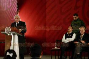 Tlahuelilpan, Hidalgo., 18 de enero de 2019.- El presidente Andrés Manuel López Obrador, acompañado del gobernador, Omar Fayad, ofrecieron conferencia de prensa en Palacio Nacional para actualizar datos tras explosión de ducto.