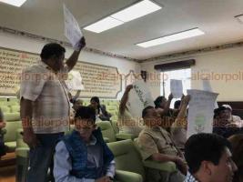 Xalapa, Ver., 15 de febrero de 2019.- Vecinos de la colonia Margarita Maza de Juárez llegan a reunión privada con el alcalde Hipólito Rodríguez para discutir la construcción del centro de Ecotecnias.