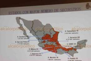 """Ciudad de México, 19 de febrero de 2019.- La presidenta de la asociación civil """"Alto al Secuestro"""", Isabel Miranda de Wallace informó que Veracruz ocupa el primer lugar en secuestros, con 51 casos reportados en enero."""