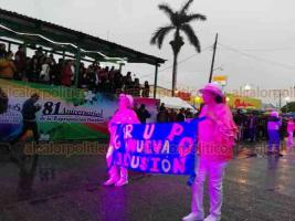 Poza Rica, Ver., 18 de marzo de 2019.- El gobernador Cuitláhuac García acudió al desfile vespertino por el 81 aniversario de la Expropiación Petrolera, que contó con el resguardo de fuerzas federales y estatales. El mandatario permaneció en la tribuna apenas 30 minutos para luego retirarse.