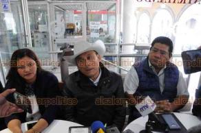 Xalapa, Ver., 20 de marzo de 2019.- Líderes de organizaciones campesinas de Veracruz en conferencia expresaron que por parte de Gobierno hay una buena intención de apoyar al campo, pero no define la estrategia para hacerlo.