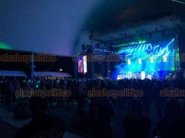 Papantla, Ver., 21 de marzo de 2019.- La noche de este jueves se presentó Amandititita en el Nicho de la Música en el marco del Festival de la Identidad Cumbre Tajín 2019.