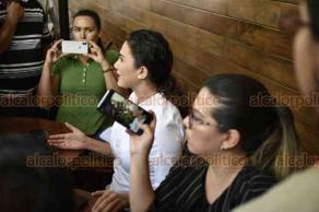 Xalapa, Ver., 26 de abril de 2019.- La candidata a la dirigencia estatal del PRI, Damara Isabel Gómez Morales, anunció que habrá una impugnación más a las seis previas que interpuso ante el TEV por el proceso interno.