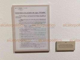 Veracruz, Ver., 14 de junio de 2019.- Este viernes se inauguró una exposición fotográfica y de archivos históricos sobre el exilio español en México, que en este 2019 cumple 80 años, esto al interior del recinto sede del IVEC. A la inauguración asistió el excandidato presidencial Cuauhtémoc Cárdenas.
