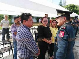 Coatzintla, Ver., 14 de junio de 2019.- El coronel de Infantería Marco Antonio Rodríguez González rindió protesta como nuevo titular del Séptimo Batallón de Infantería en este municipio.