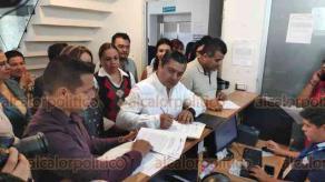 Xalapa, Ver., 26 de junio de 2019.- El dirigente estatal del PRI, Marlon Ramírez, puso una denuncia ante la FGE en contra de quien resulte responsable por la comisión de suplantación de identidad.