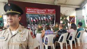 Coatzacoalcos, Ver., 16 de julio de 2019.- Edgar Antonio Toledo Reyes, subjefe de Estado Mayor de la 29 Zona Militar en Minatitlán, dijo que la convocatoria para formar parte de la Guardia Nacional concluye en agosto.