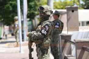 Veracruz, Ver., 19 de agosto de 2019.- Mando castrense indicó que desde la llegada de la Guardia Nacional a la conurbación, los índices delictivos han disminuido un 2 por ciento en una escala del 0 al 10.
