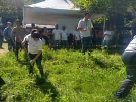 Xalapa, Ver., 24 de agosto de 2019.- La diputada federal Dorheny García Cayetano participó, junto con autoridades estatales y municipales, en labores de limpieza y chapeo en el Santuario de las Garzas.