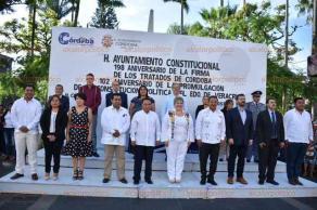 Córdoba, Ver., 24 de agosto de 2019.- El secretario de Gobierno, Eric Cisneros Burgos, acudió la conmemoración del aniversario 198 de la firma de los Tratados de Córdoba, encabezada por autoridades locales.