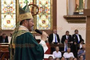"""Xalapa, Ver., 25 de agosto de 2019.- """"Hace unos días una persona, y han sido de hecho varias que me han dicho: me pude escapar de las personas que me secuestraron y doy gracias a Dios porque él me salvó"""", dijo este domingo el arzobispo Hipólito Reyes."""