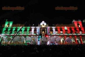 Imágenes de la ceremonia del Grito de Independencia en la ciudad de Xalapa, Veracruz