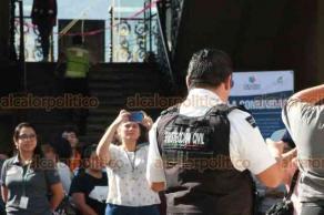 Orizaba, Ver., 19 de septiembre de 2019.- El Palacio Municipal de Orizaba también participó en el Macrosimulacro de Sismo. Alrededor de mil personas, entre empleados, autoridades y ciudadanos lograron evacuar en 2 minutos y 34 segundos.