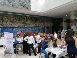 Xalapa, Ver., 21 de septiembre de 2019.- Rock, terapias de bienestar, juguetes, productos artesanales y otros productos y servicios, destacan entre la oferta de la Semana del Emprendedor, que tiene lugar en IMAC.