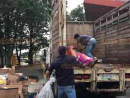Xalapa, Ver., 12 de octubre de 2019.- Hasta las 2 de la tarde, empresas y dependencias estatales y federales recibirán los residuos en la explanada del Teatro del Estado.