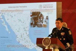 Ciudad de México, 14 de octubre de 2019.- El secretario de la Defensa Nacional, Luis Crescencio Sandoval, dio un informe de los resultados contra el narcotráfico, huachicoleo, tráfico de armas y mercancía ilegal.