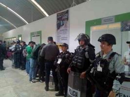 Huatusco, Ver., 17 de octubre de 2019.- El IPAX instaló un módulo informativo en el que se dio a conocer el trabajo que desempeña esta fuerza policial.