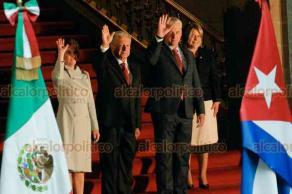 Ciudad de México, 17 de octubre de 2019.- En el Patio de Honor de Palacio Nacional, el presidente Andrés Manuel López Obrador dio la bienvenida al presidente de Cuba, Miguel Díaz-Canel Bermúdez.