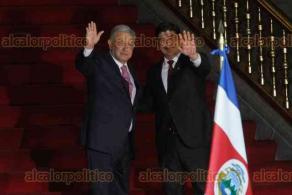 Ciudad de México, 21 de octubre de 2019.- En Palacio Nacional, el presidente Andrés Manuel López Obrador dio la bienvenida a su homólogo de Costa Rica, Carlos Andrés Alvarado Quesada, acompañado de sus delegaciones diplomáticas.