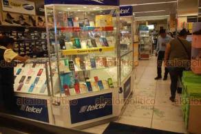 Veracruz, Ver., 22 de octubre de 2019.- Asaltan tienda Coppel de la avenida Independencia, en el puerto de Veracruz, la tarde noche de este martes.