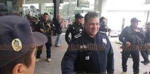 """Xalapa, Ver., 15 de noviembre de 2019.- El Secretario de Seguridad Pública encabezó un operativo de seguridad por """"El Buen Fin"""", en plazas comerciales de la capital."""