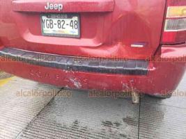 Xalapa, Ver., 16 de noviembre de 2019.- Este sábado ocurrió un choque por alcance sobre la carretera Xalapa-Coatepec, a la altura de Los Arenales. Un vehículo particular chocó contra una camioneta sobre el carril con dirección a la capital. No hubo lesionados.