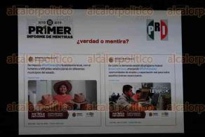 Xalapa, Ver., 18 de noviembre de 2019.- El dirigente estatal del PRI, Marlon Ramírez Marín, hizo análisis del informe del gobernador Cuitláhuac García, al que llamó